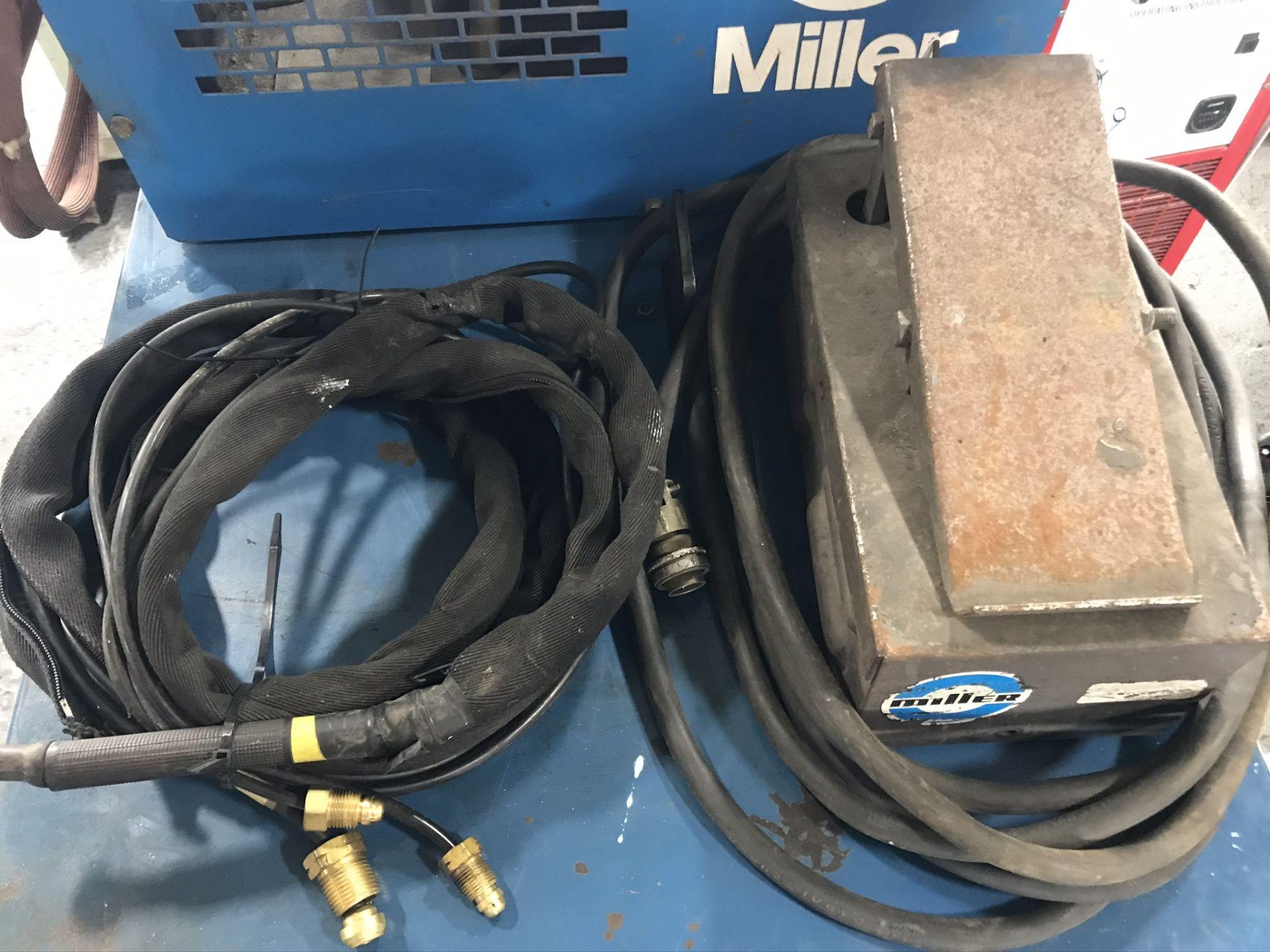 Miller Syncrowave 300 Welder w/ Miller Radiator 1A Cooling System - Image 4 of 4