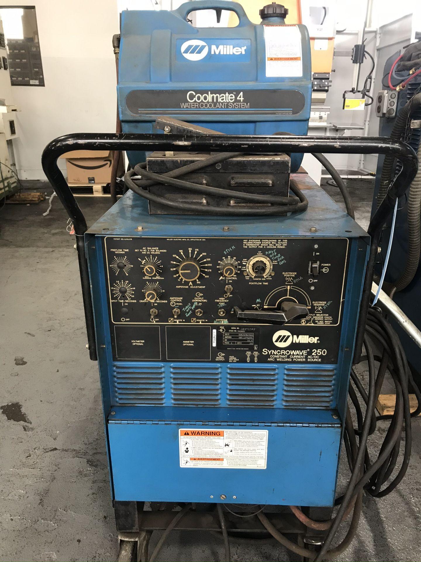Miller Syncrowave 250 Welder w/ Coolmate 4 Chiller