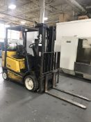 "Yale Lift Truck 4,500 Lb. Capacity, 189"" Max Lift (2-Stage), Side Shift, LP Gas"