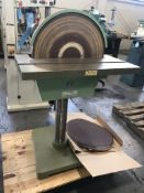 Conquest 20 Arch Industrial Disc Sander w/ Extra Sanding Discs