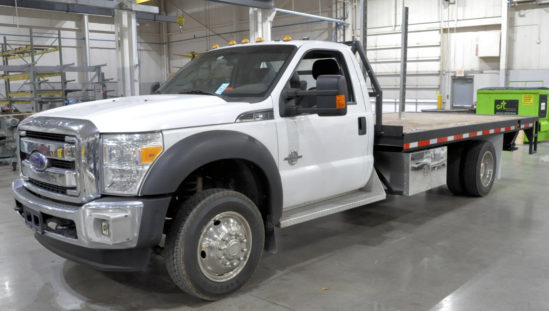 2015 Ford F550 XLT Super Duty Single Axle Dual Wheeled Stake Truck, 16' Wood Bed, Air Ride, Diesel