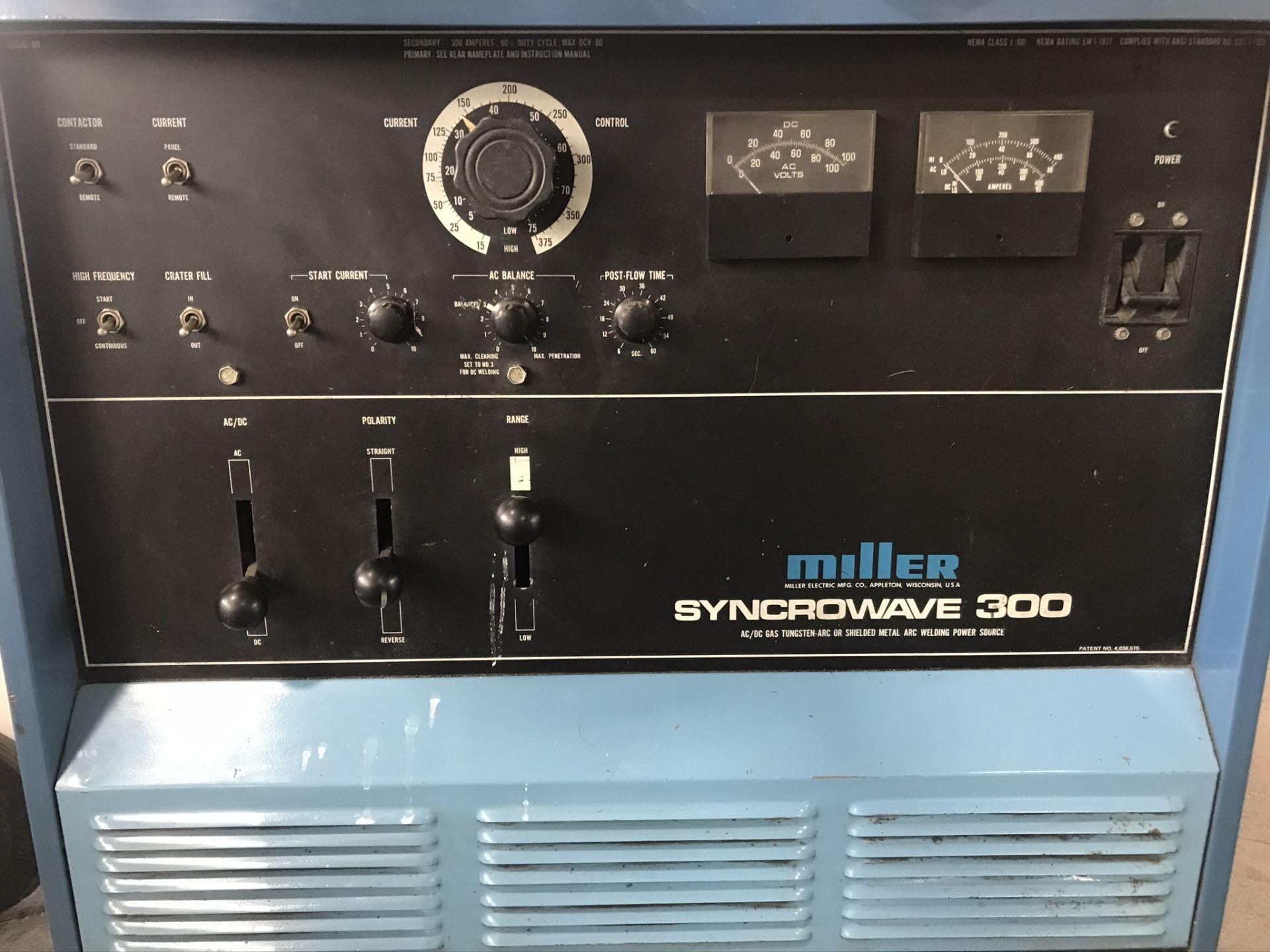 Miller Syncrowave 300 Welder w/ Miller Radiator 1A Cooling System - Image 2 of 4