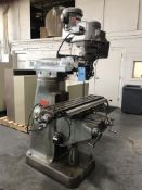 """Bridgeport Series I Vertical Knee Mill, 9"""" x 42"""" Table, X-Axis Power Feed, One Shot Lube, SN# 220357"""