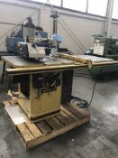 "Powermatic 66-TA Table Saw w/ Cantek AP-48 Feed Unit, 48"" Accu-Fence, 5 HP, 220 Volt, 3-Ph."