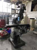 """Bridgeport 2J Series I Vertical Knee Mill, 9"""" x 42"""" Table, X-Axis Power Feed, One Shot Lube, Light"""