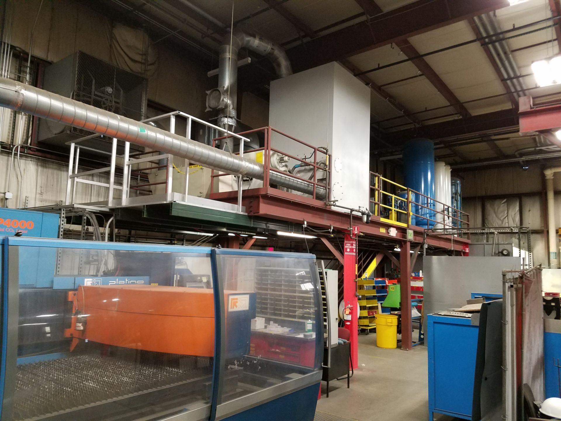Lot 4 - 12' x 40' Mezzanine, Prefabricated Steel Platform