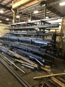 Two Sided Steel Rack Complete with Structural Steel, Bar Stock, Aluminum, Etc.