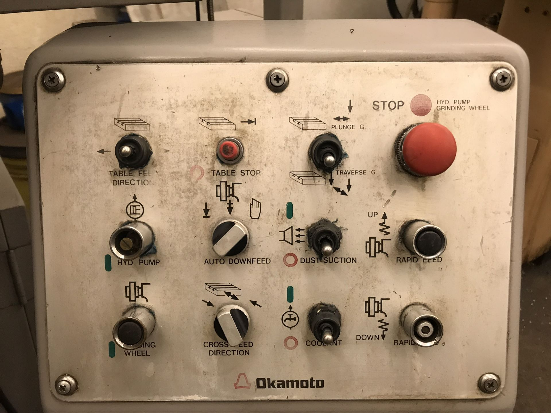 "Okamoto ACC-124N Hydraulic Surface Grinder 14"" Wheel w/ 12"" x 24"" Walker Electromagnetic Chuck - Image 6 of 14"