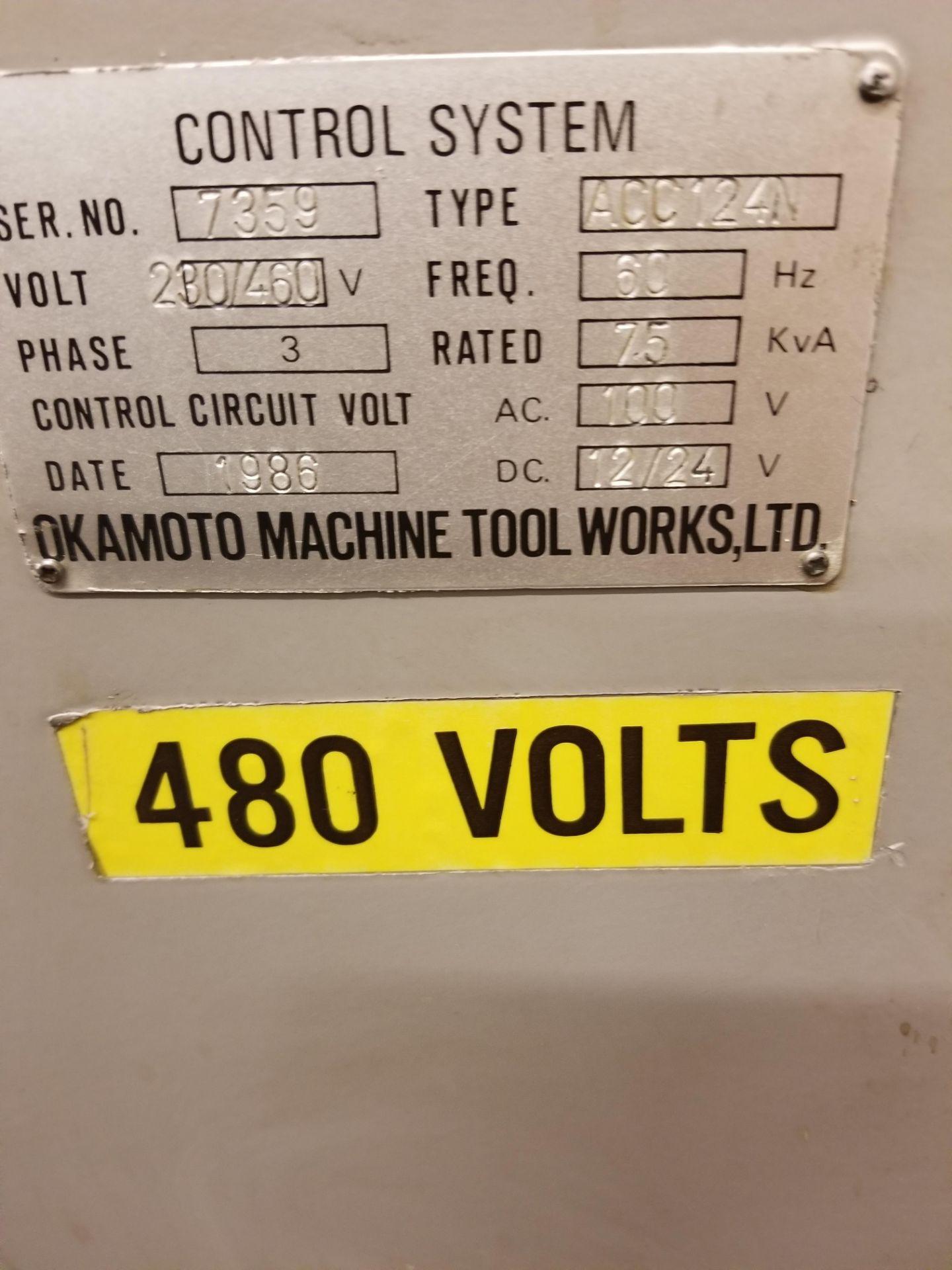 "Okamoto ACC-124N Hydraulic Surface Grinder 14"" Wheel w/ 12"" x 24"" Walker Electromagnetic Chuck - Image 13 of 14"