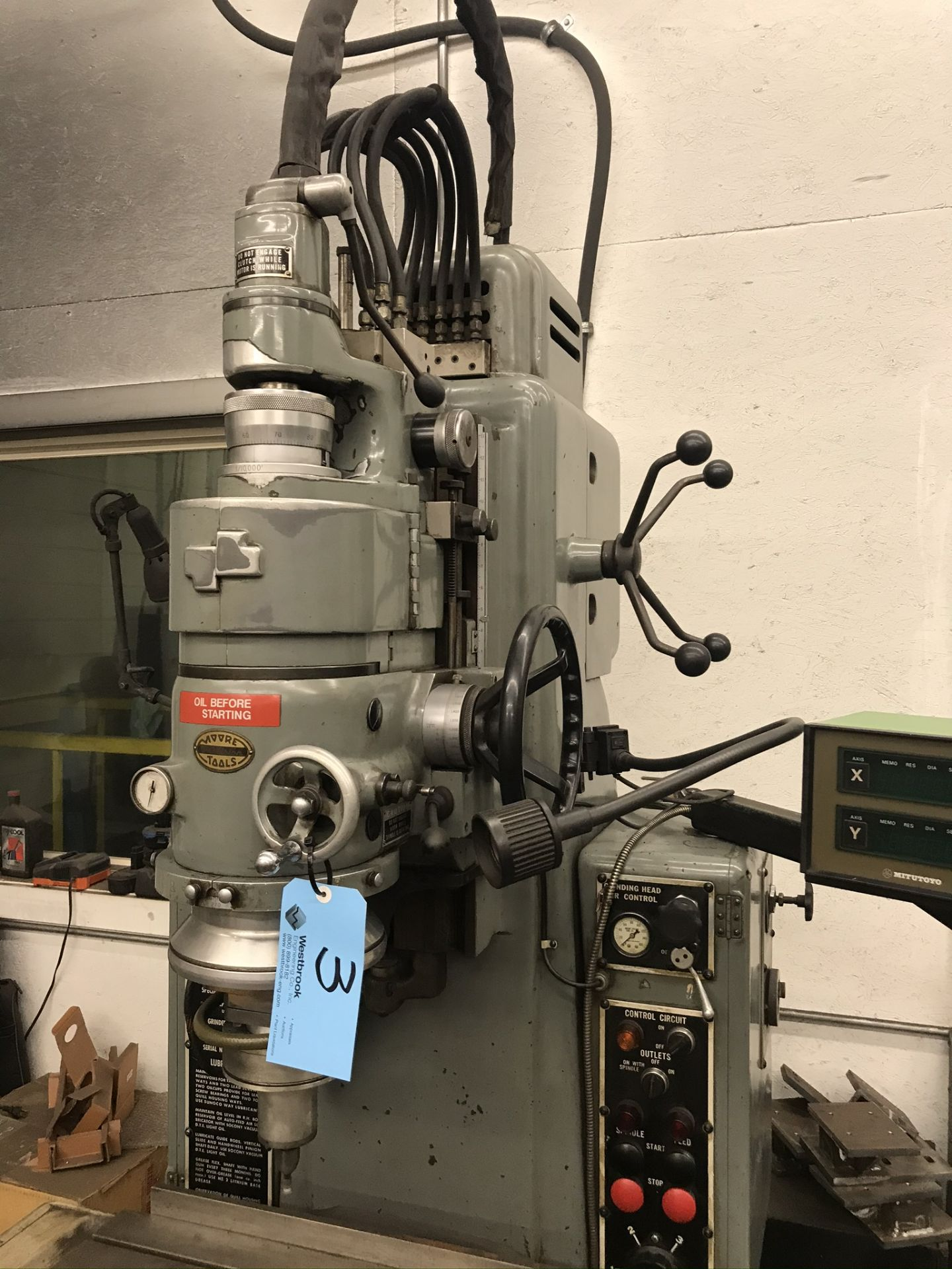 Moore #3 Jig Grinder with 2-Axis Readouts - Image 2 of 9