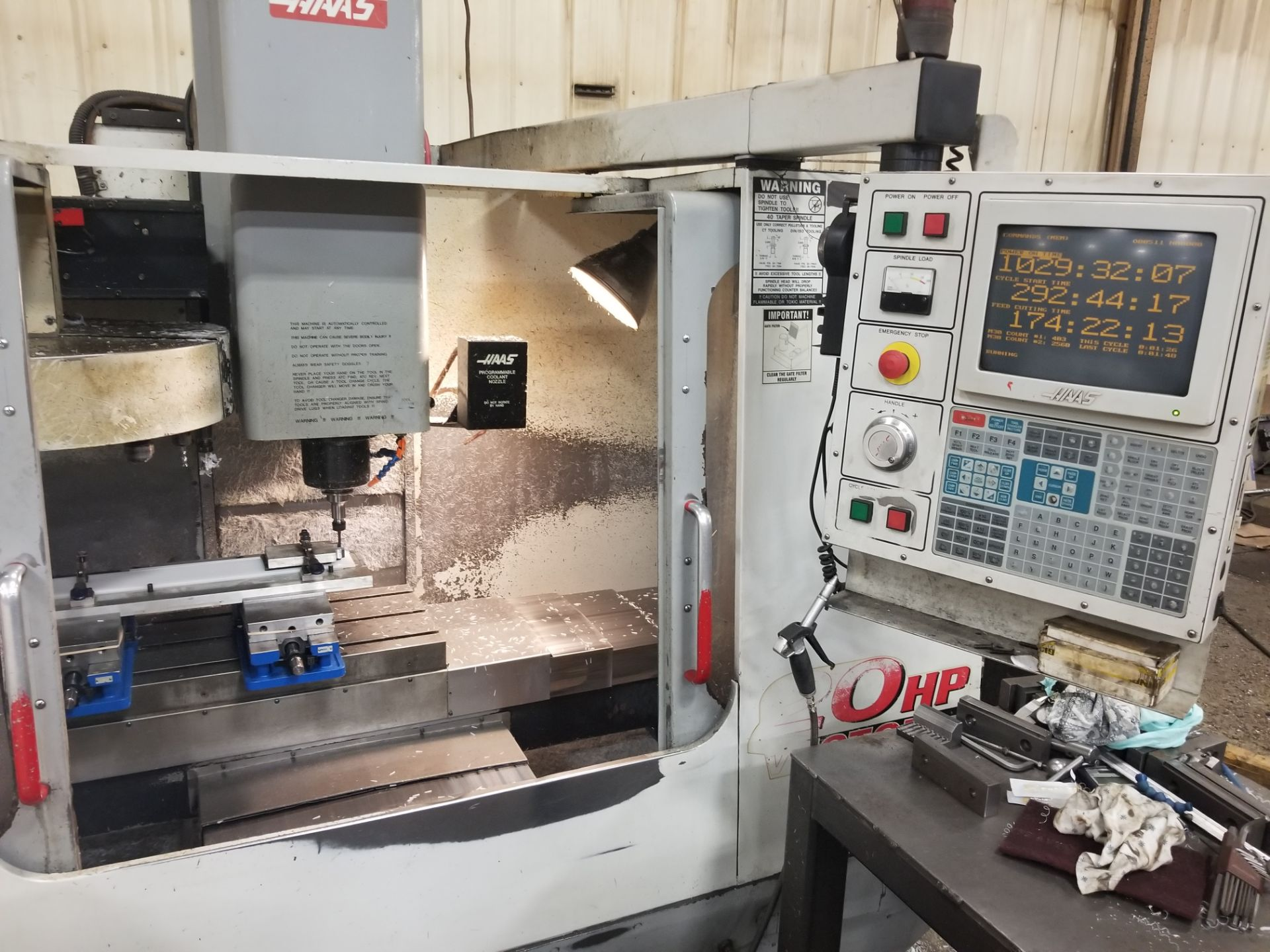 Haas VF2 Vertical Machining Center, 20 ATC, Chip Auger, Thru Spindle Coolant, Vector Drive - Image 2 of 6