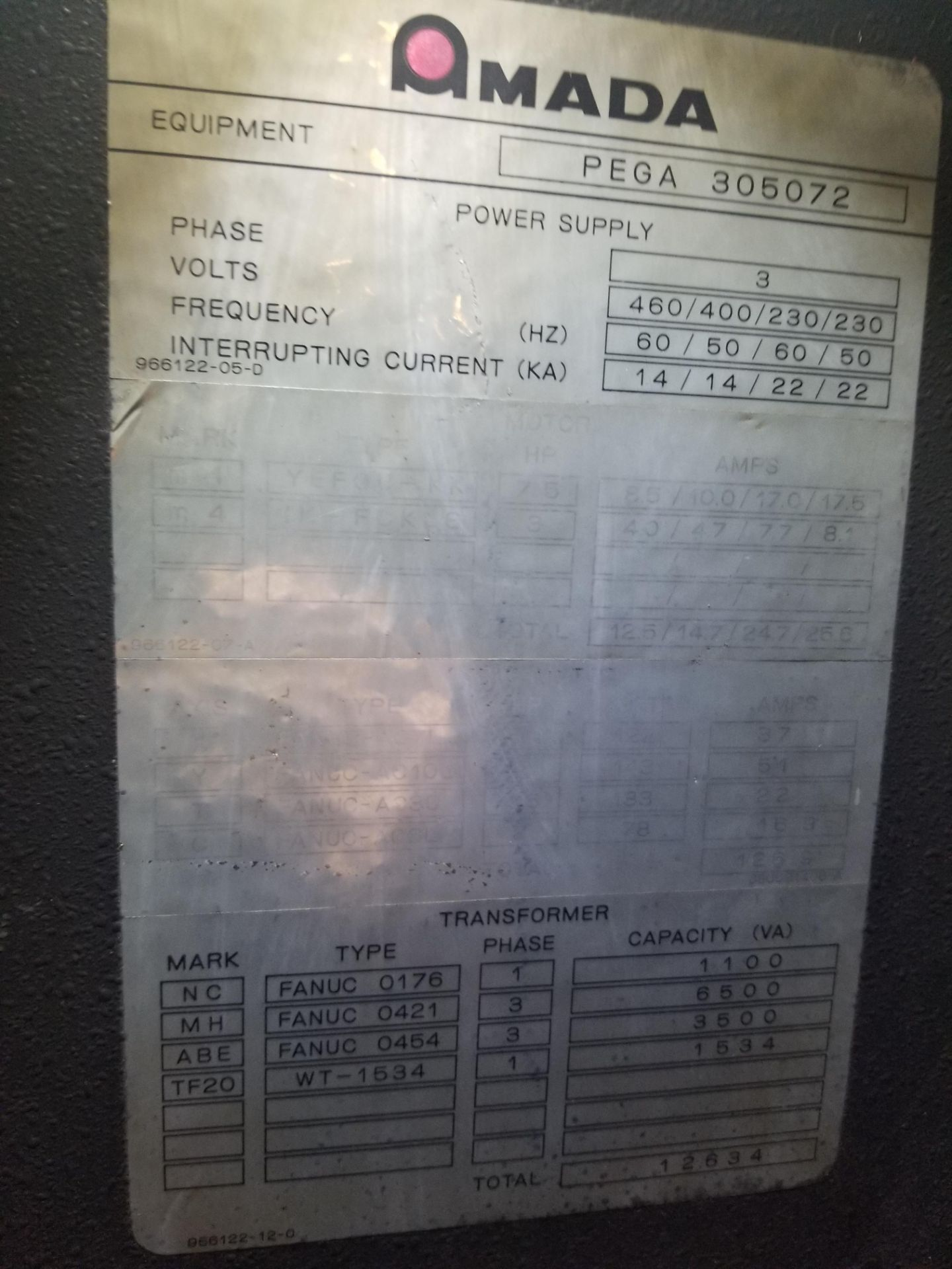 Amada Pega 357 CNC Turret Punch - Image 5 of 7