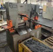 """Spartan Model# IW60D, 66 Ton Hydraulic Ironworker, 12"""" Throat, Five Stations, Electric Length Gauge"""