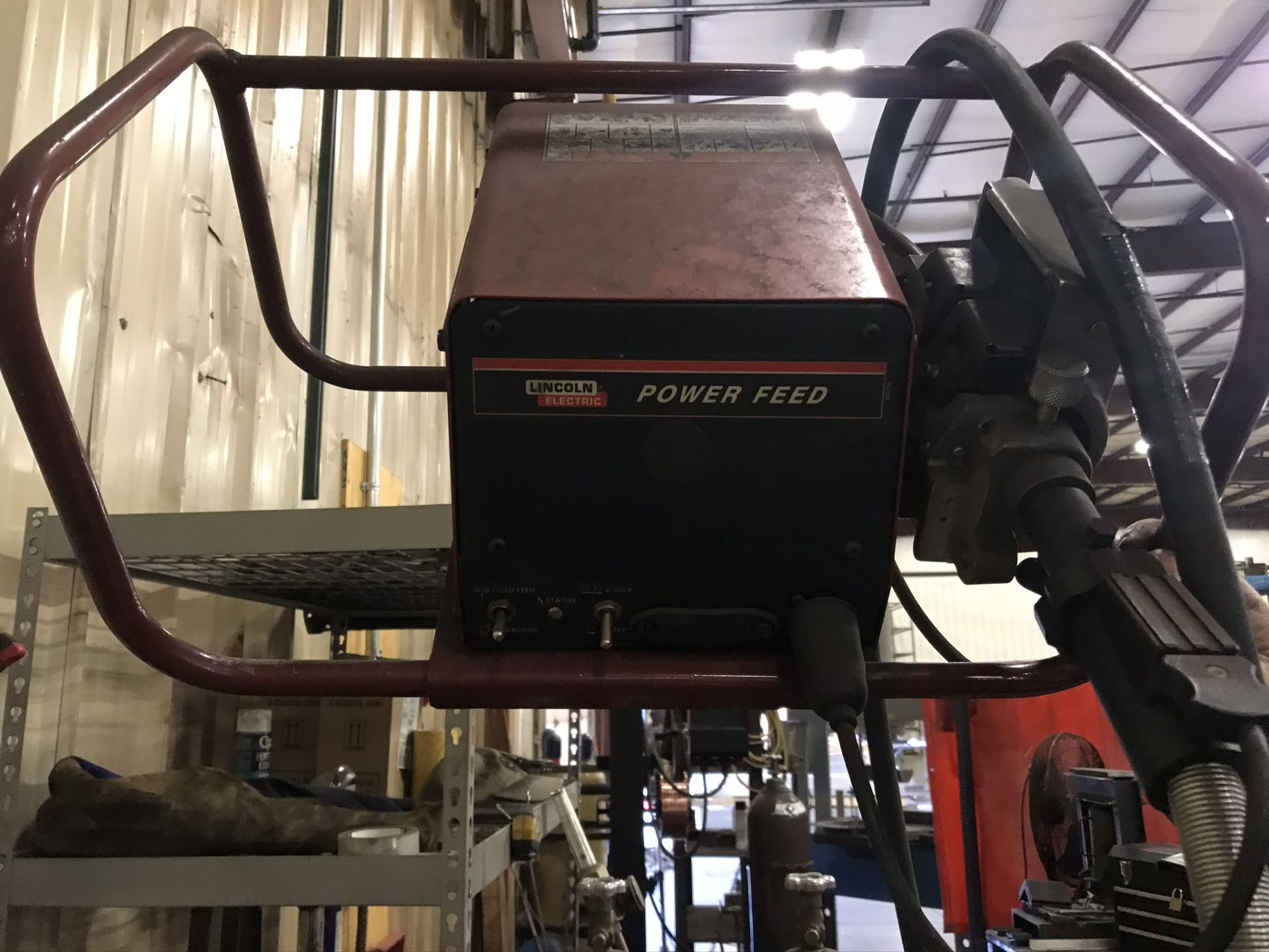 Lincoln Power Wave 455 Welder Complete with Welding Boom Arm and Lincoln Power Feed - Image 6 of 7
