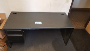 """66"""" x 30"""" Desk: 2 Drawer with Grey Top"""