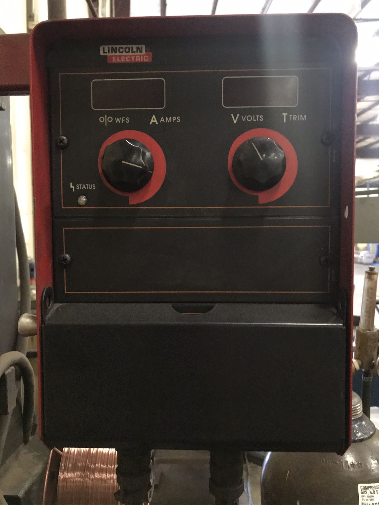Lincoln Power Wave 455 Welder Complete with Welding Boom Arm and Lincoln Power Feed - Image 4 of 7