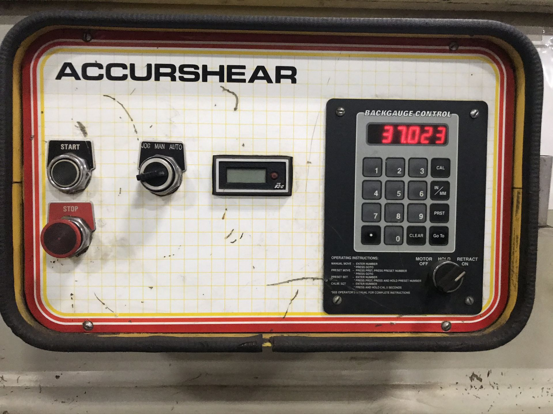 "Accurshear 625010, 1/4"" x10' Hydraulic Shear, 36"" Programmable Backgauge - Image 5 of 6"