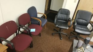 (5) Assorted Office Chairs