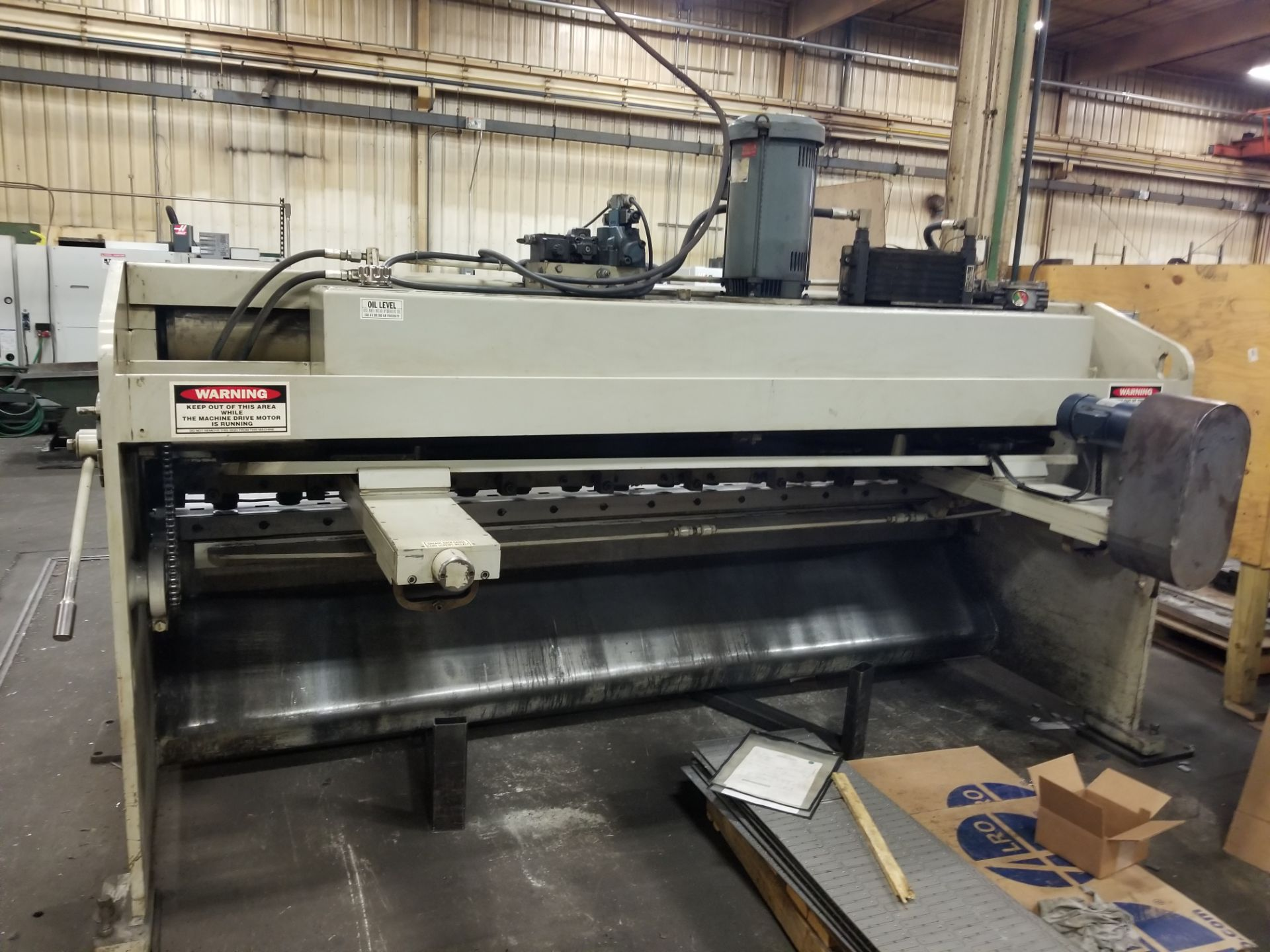 "Accurshear 625010, 1/4"" x10' Hydraulic Shear, 36"" Programmable Backgauge - Image 2 of 6"