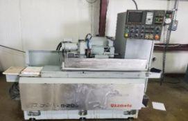 Okamoto OGM 820P CNC Plain Grinder, Okamoto CNC Control (Fanuc 21GA),Combo Live/Dead Center Workhead