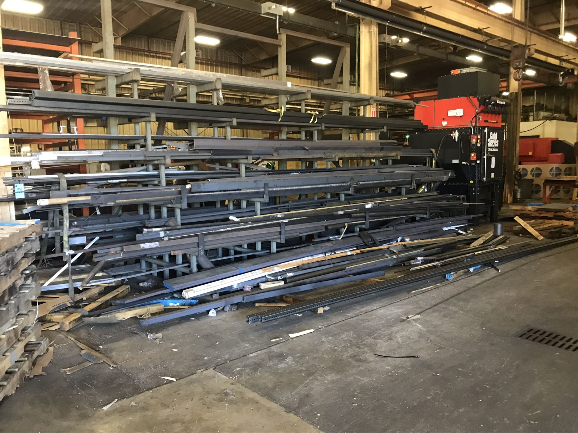 Two Sided Steel Rack Complete with Structural Steel, Bar Stock, Aluminum, Etc. - Image 4 of 6