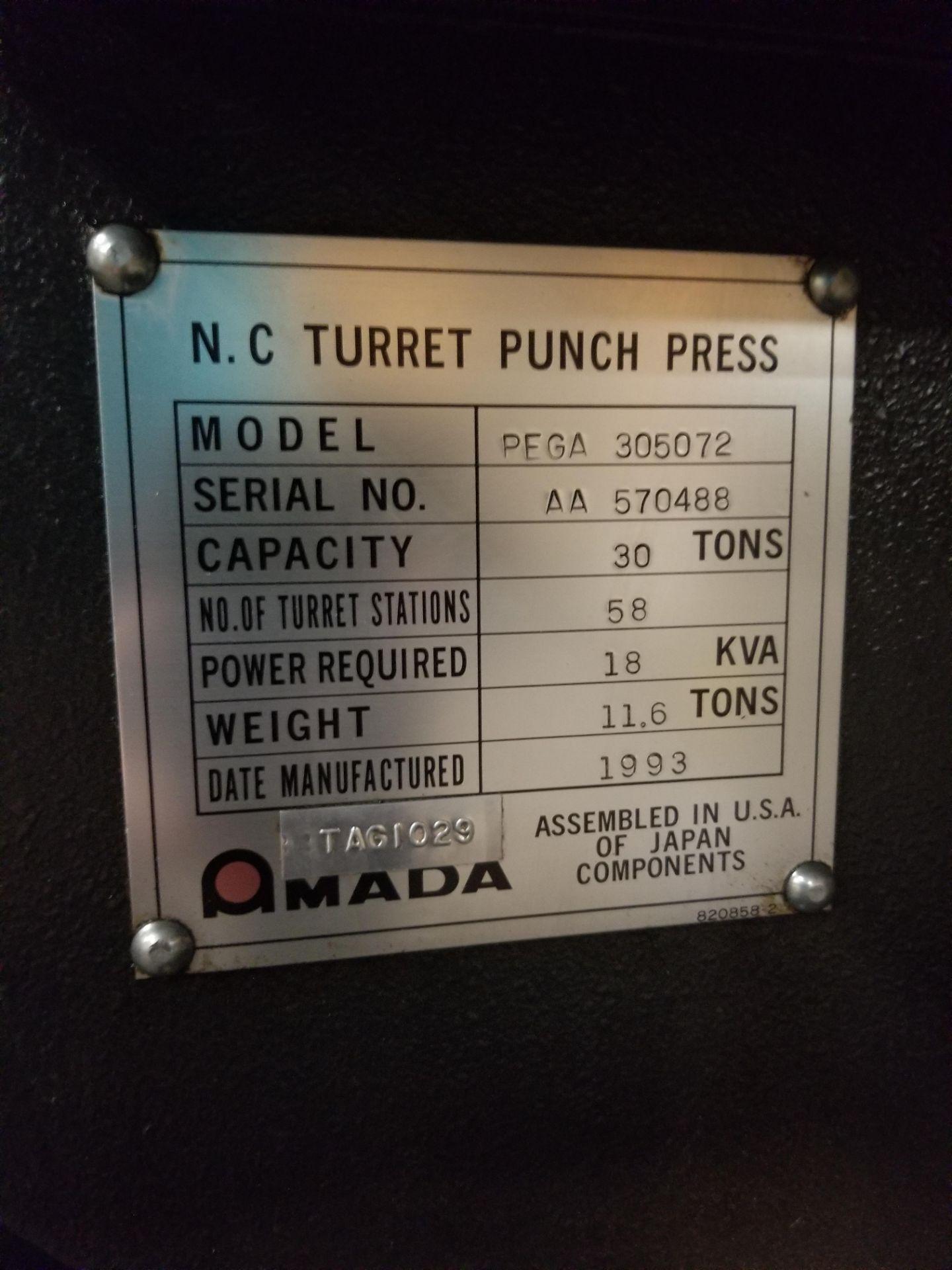 Amada Pega 357 CNC Turret Punch - Image 6 of 7
