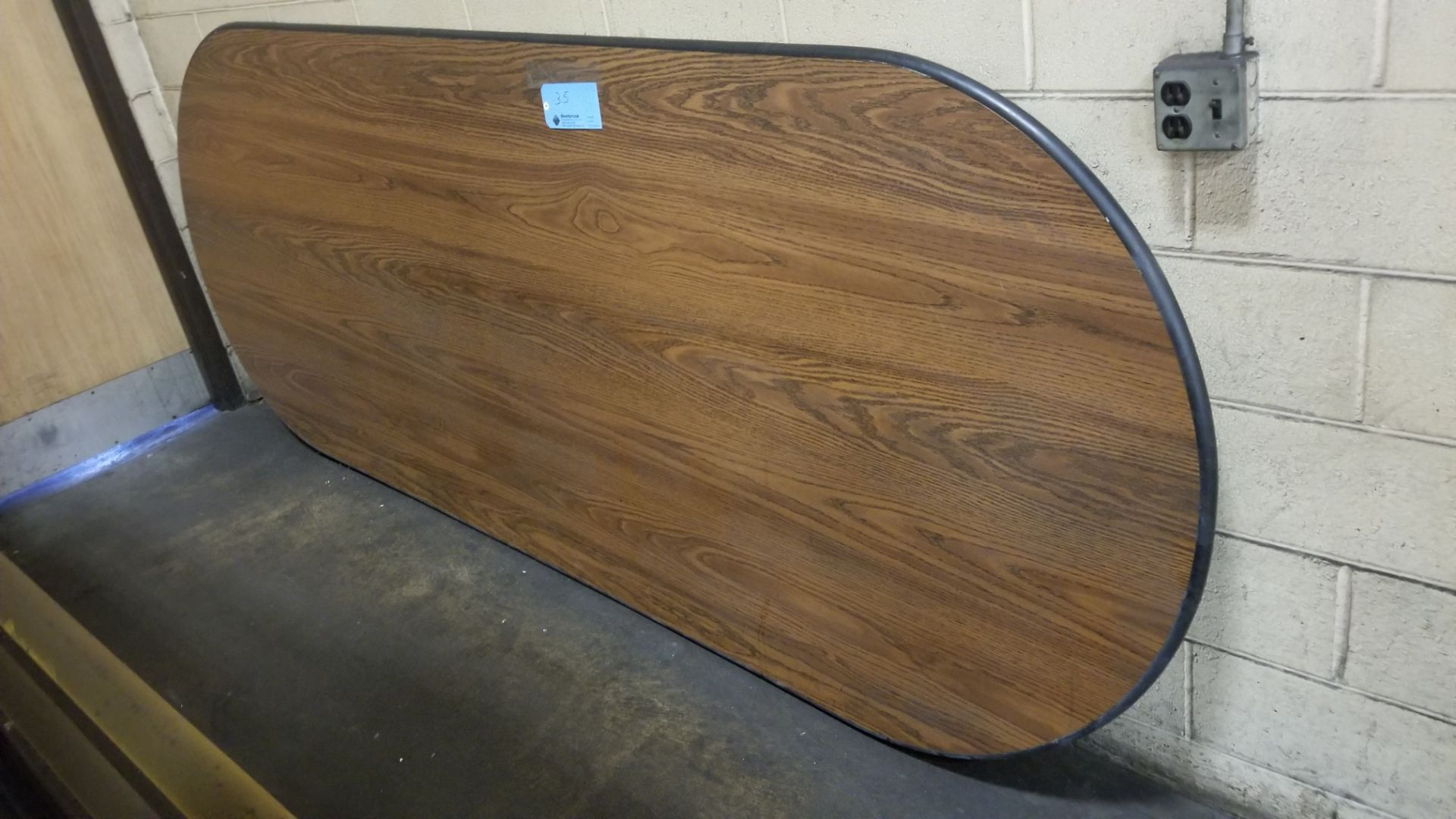 """48"""" x 120"""" Oval Table Top - Image 2 of 2"""