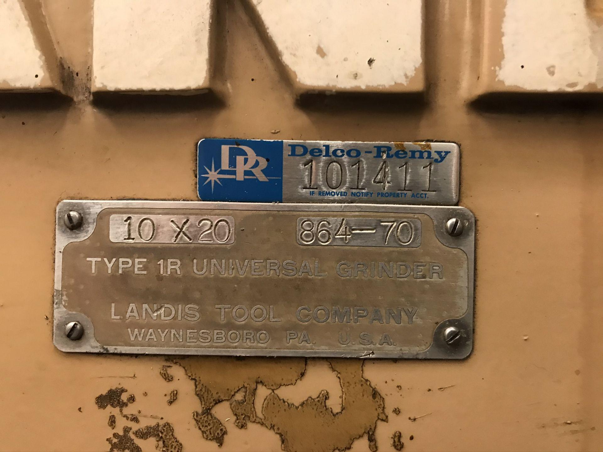 Landis Type 1R Universal Grinder Model #10x20 - Image 10 of 10