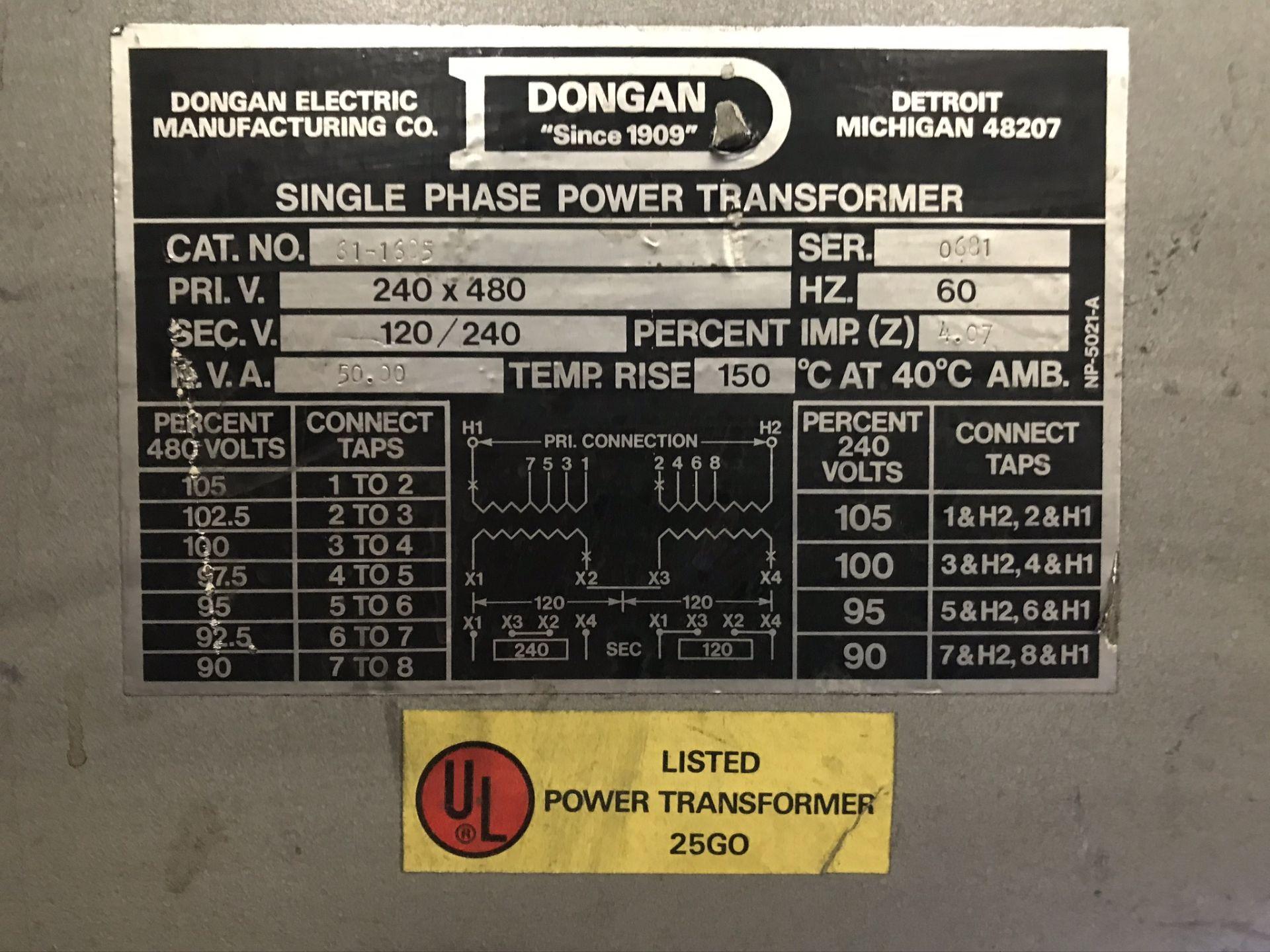 Dongan 50 KVA Transformer - Image 2 of 2