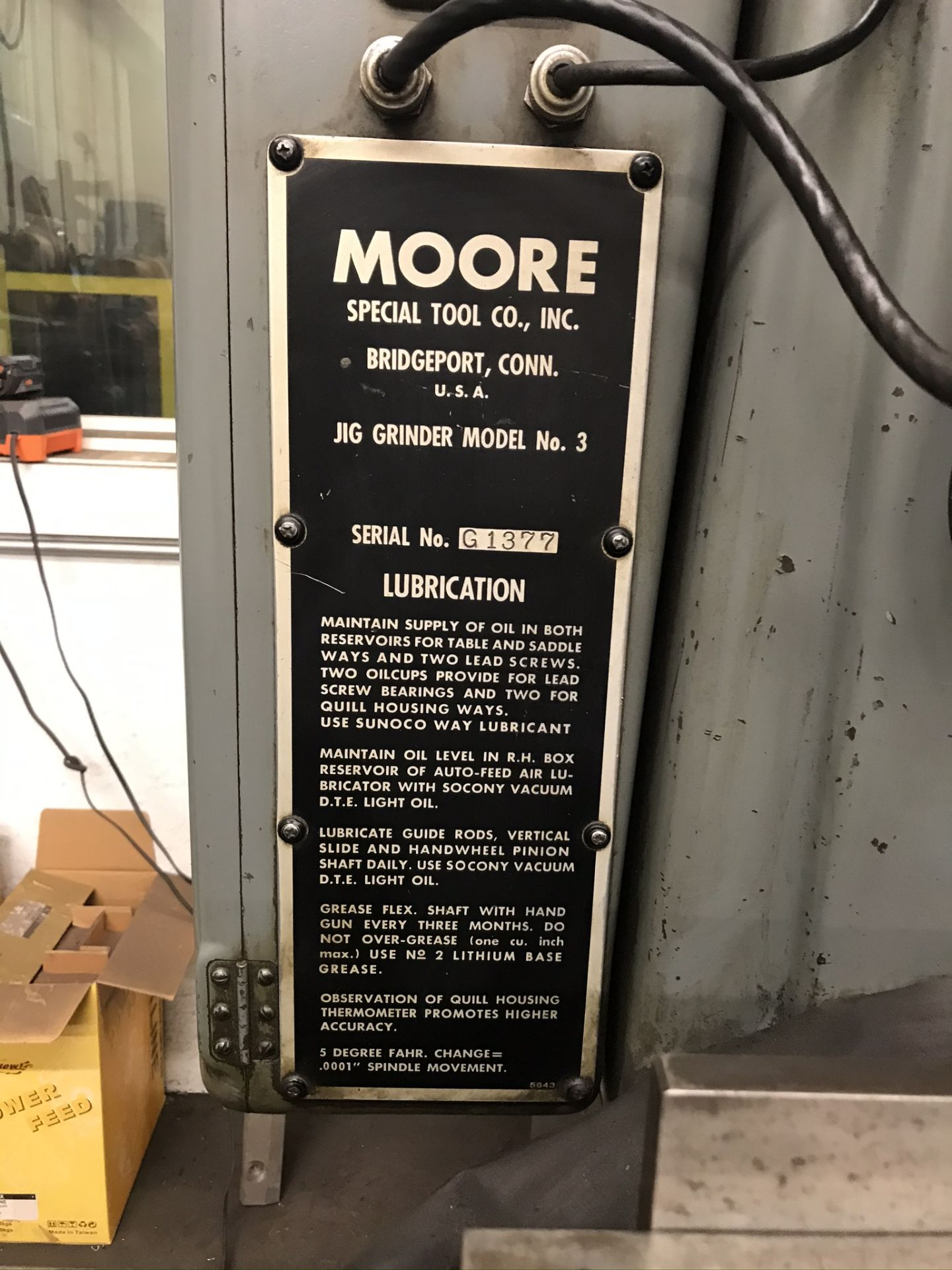 Moore #3 Jig Grinder with 2-Axis Readouts - Image 8 of 9