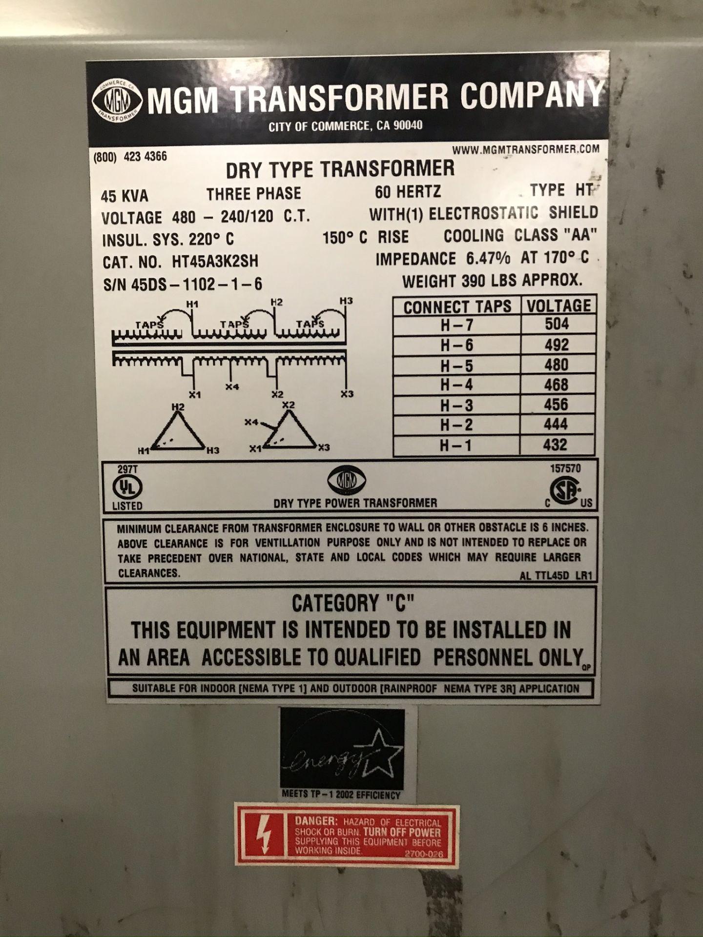 MGM 45 KVA Transformer - Image 2 of 2