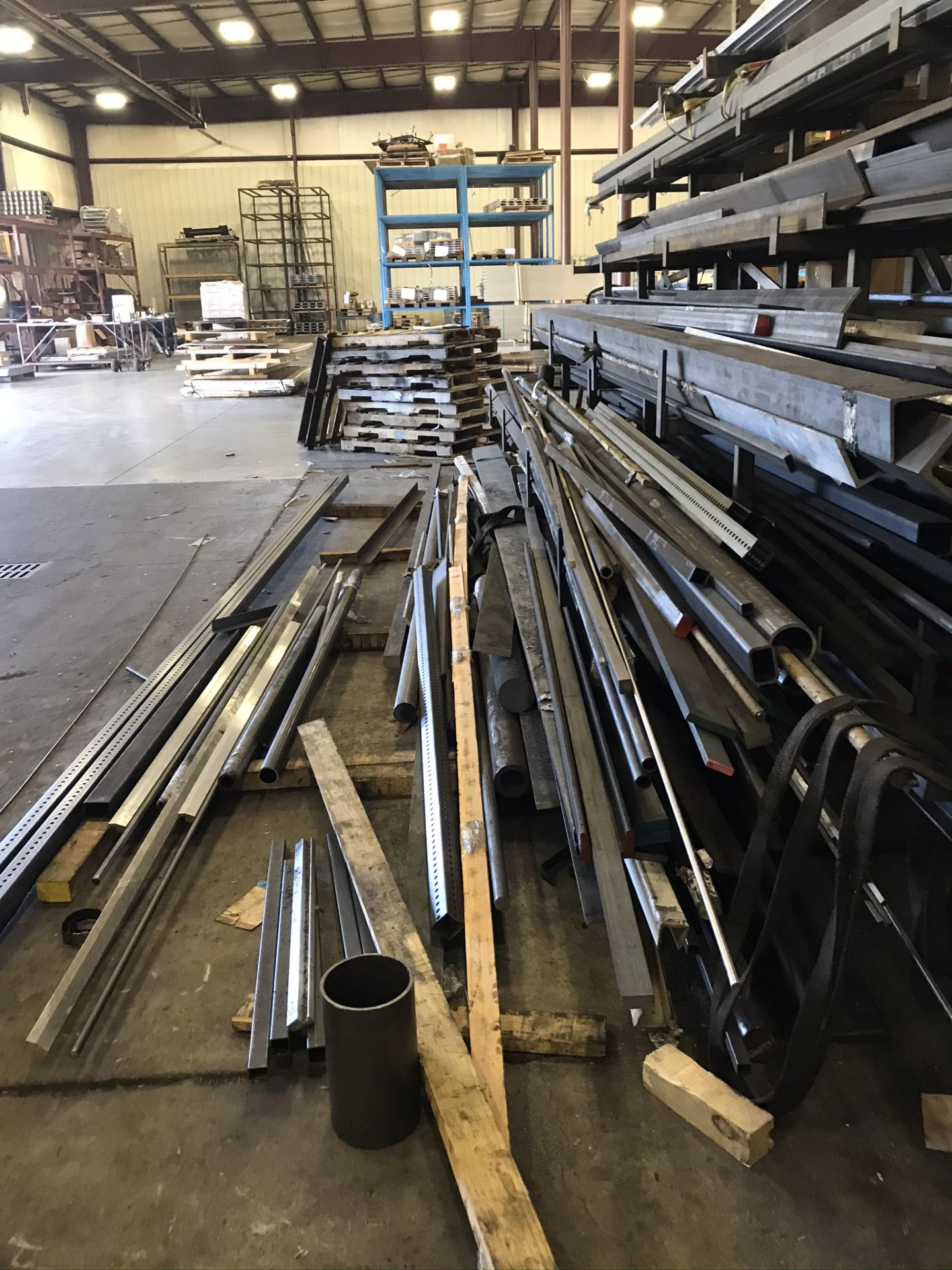 Two Sided Steel Rack Complete with Structural Steel, Bar Stock, Aluminum, Etc. - Image 2 of 6