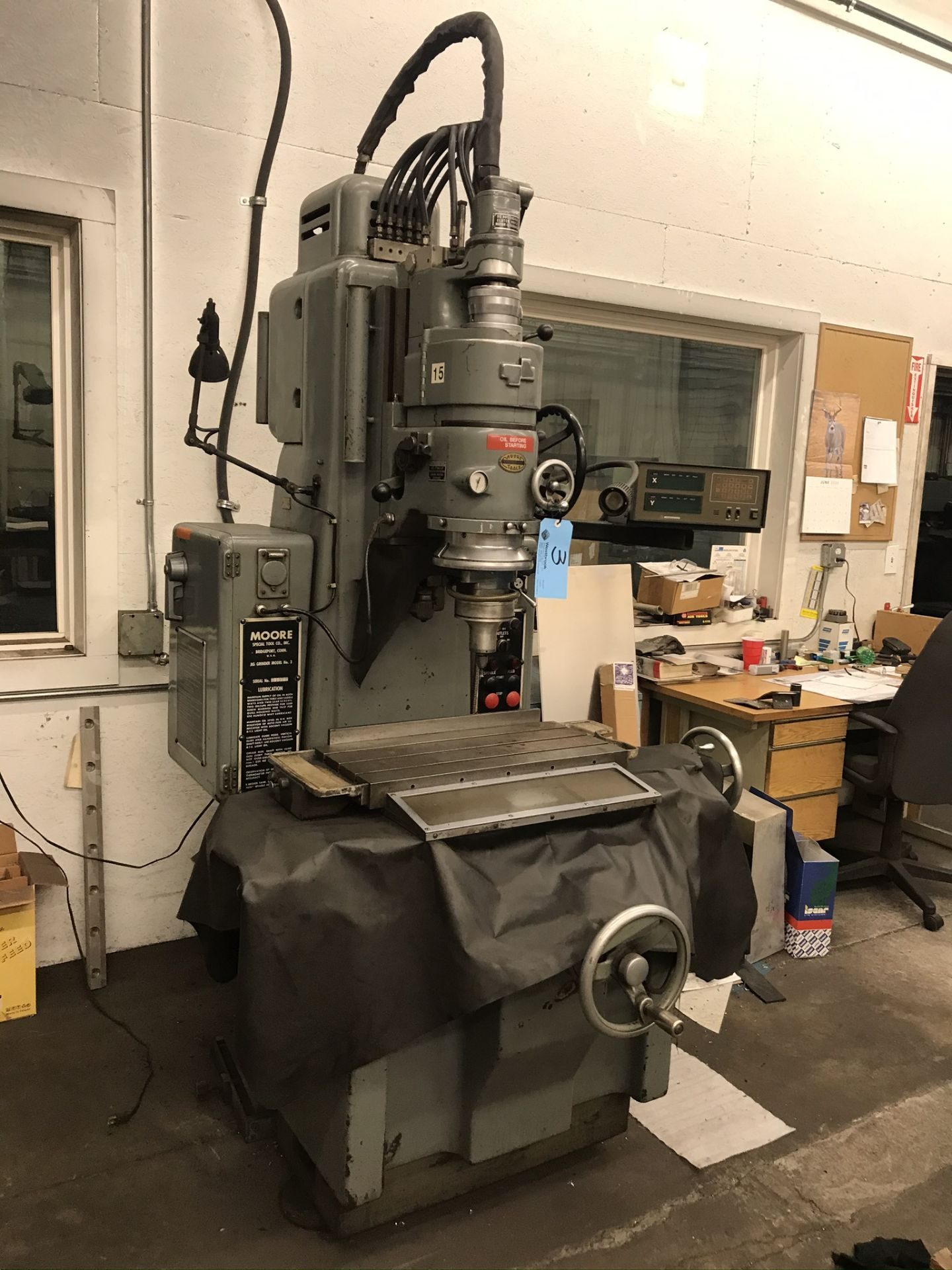 Moore #3 Jig Grinder with 2-Axis Readouts
