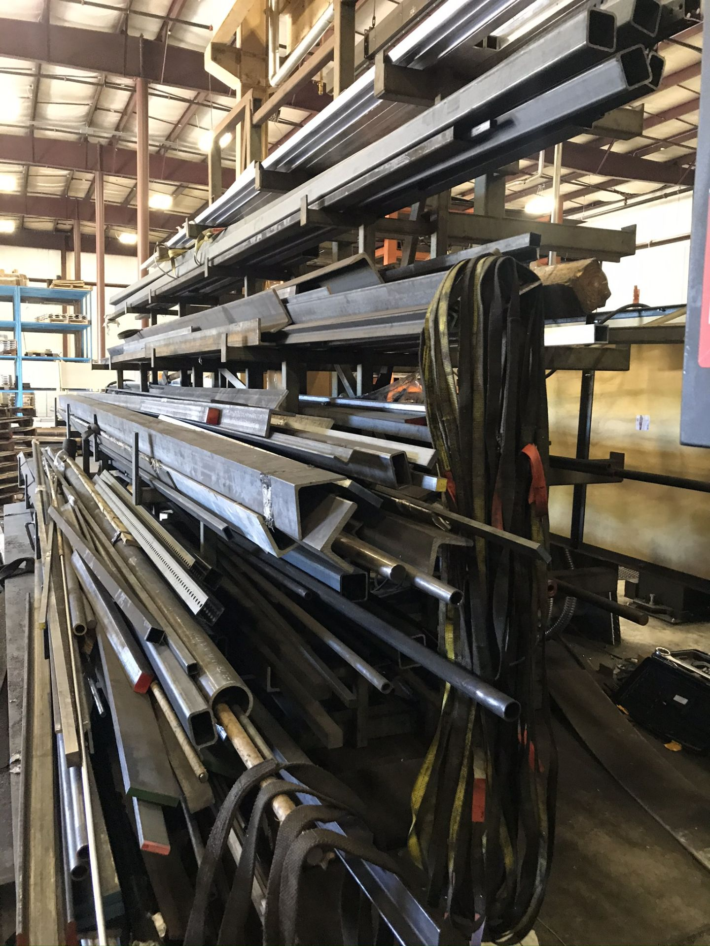Two Sided Steel Rack Complete with Structural Steel, Bar Stock, Aluminum, Etc. - Image 3 of 6
