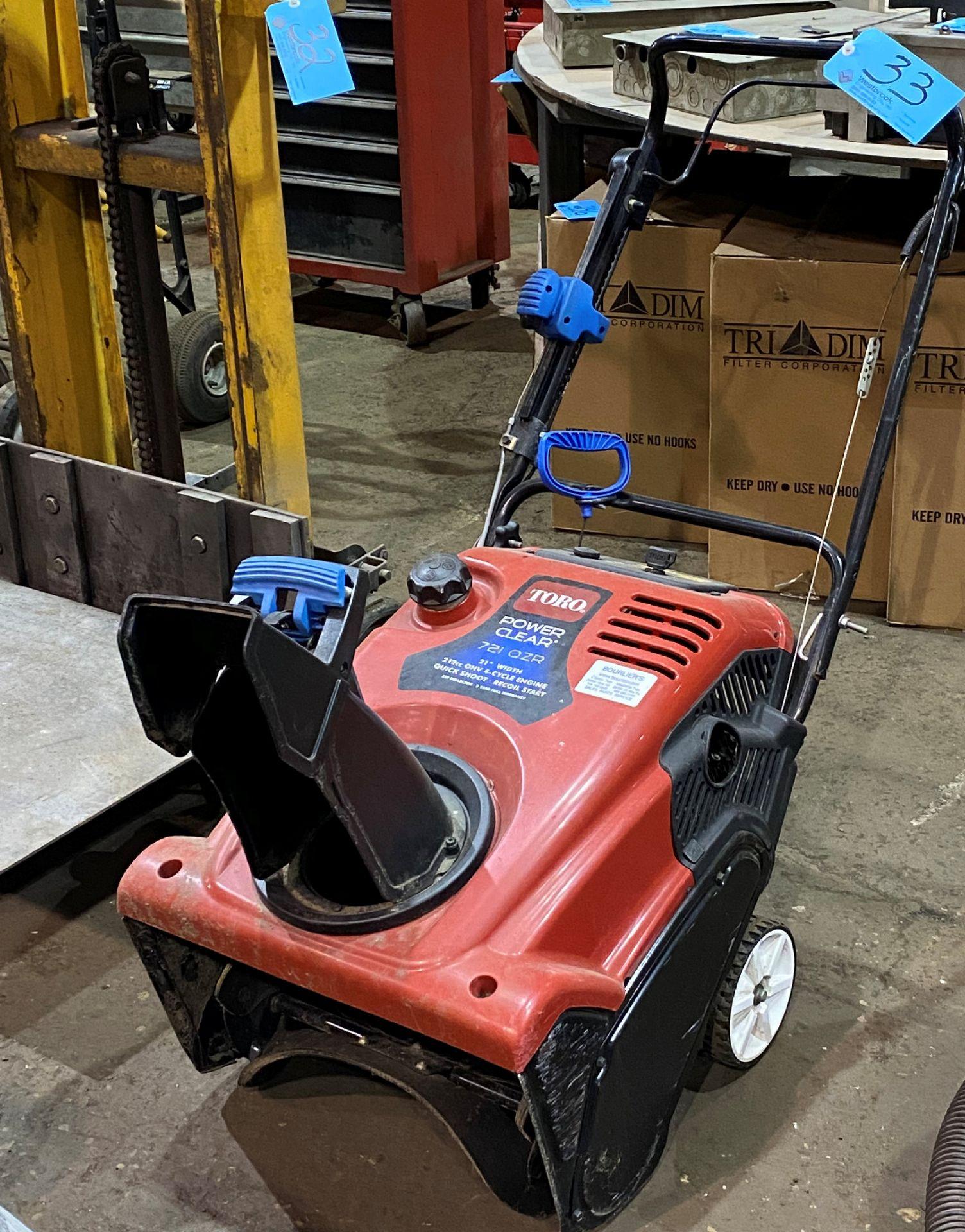 """Toro Power Clear Model 721 OZR, 212cc x 21"""" Width Gas Powered Walk Behind Snow Thrower"""