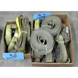 Lot-Strap Slings and Ratchet Straps in (2) Boxes