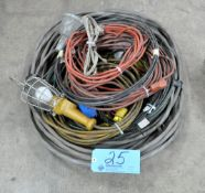 Lot-Extension Cords, Heavy Gage Wire, and Lights in (1) Stack