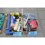 Lot-Painting Tools, Roller Covers, Caulk Guns, etc. in (1) Box and (1) Pan