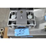 Lot-(2) Dial Force Indicator Fixtures with Gauges in (1) Travel Case