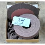 Lot-Sanding Disks, Sanding Paper and Sanding Cylinders in (1) Box