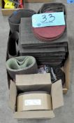 Lot-Scotchbrite Pads and Sanding Belts in (2) Boxes