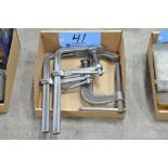 Lot-(2) Bar Clamps and (1) C-Clamp in (1) Box