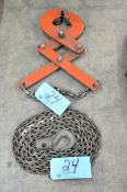 Lot-(1) Pallet Grab and (1) Single Hook Chain