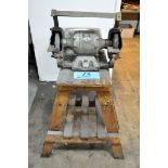 """Millers Falls Cat. 86, 6"""" x 1/3-HP Double End Bench Top Grinder with Wooden Stand"""