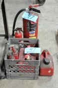 Lot-(2) Fire Extinguishers and (3) Fuel Cans