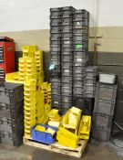Lot-Plastic Parts Bin and Plastic Totes on (1) Pallet