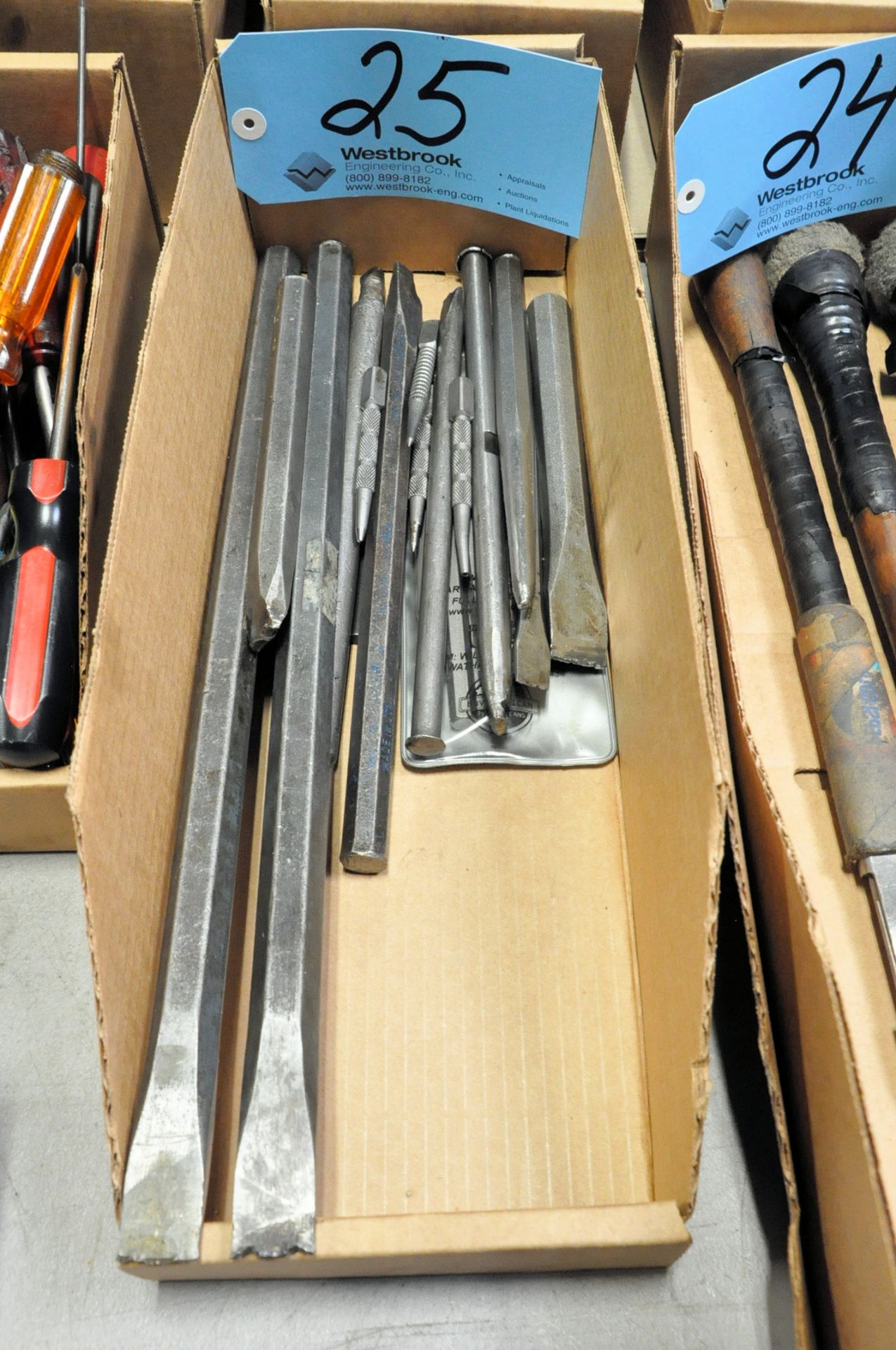 Lot-Chisels in (1) Box