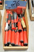 Lot-Red Handle Precision Scrapers in (1) Box