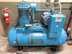 Curtis 15-HP Horizontal Tank Mounted Air Compressor, (2-Stage), 3-PH