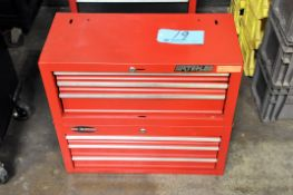 Lot-(2) 3-Drawer Tool Boxes, Red